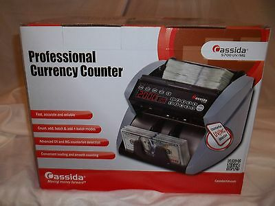 Cassida 5700 Currency/Money Counter w Counterfeit Detect new in box