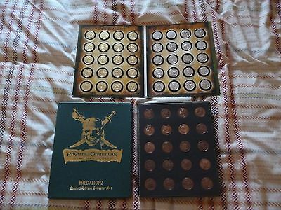 Full Set Ofgold,silver & Copper Coloured Medallionzs Pirates Of The Caribbean