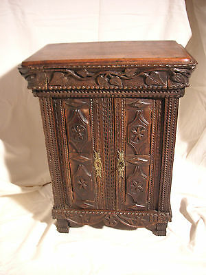 Antique miniature carved furniture – Armoire/Wardrobe – French provincial