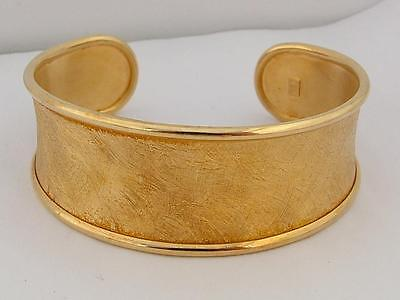 2009 Qvc Fully Hallmarked 18Ct Veronese Gold On Solid Sterling Silver Bangle