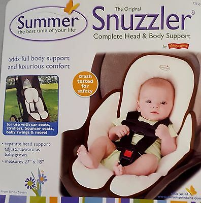 Summer The Original Snuzzler Infant Head & Body Support Reversible Ivory/Brown