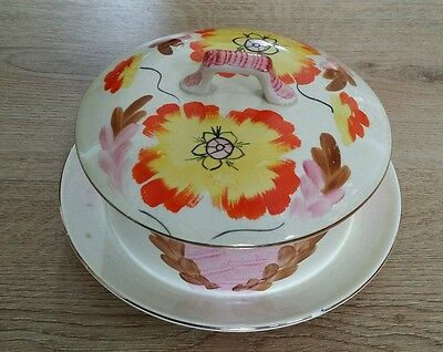BCM / Nelson Ware Dish /Bowl with Lid  -  Hand Painted - Vintage - Retro in the