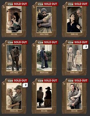 Remembrance Set With Awards (9) Digital The Walking Dead Card Trader