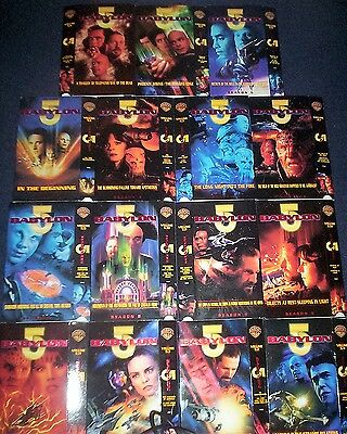 Collection Of 15 Different Bab 5 Cardboard Video Sleeves From The Us