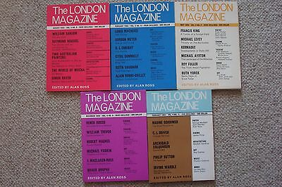 The London Magazine - Five Issues From 1963/64 and 65 .  Free P&P