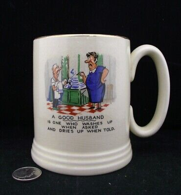 Vintage Coffee Or Beer Mug Lorn Nelson A Good Husband Washes Up When Asked