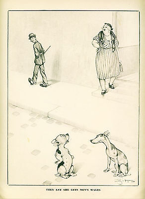 Dog Print 1941 Whippet & Boston Terrier Hooker VINTAGE