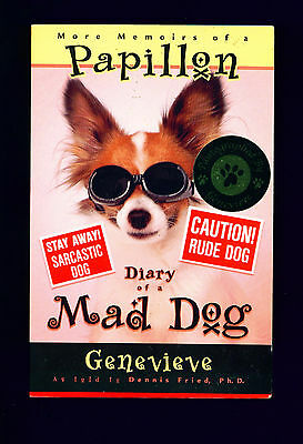 SIGNED Dog Story Book More Memoirs of a Papillon Dog