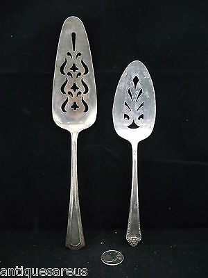 2 Silver Plate Tart Lifters Pie Cutters Etc Craft Use ? Rogers Is