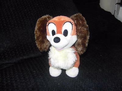 "DISNEY STORE 8"" LADY & THE TRAMP puppy dog Plush Soft Toy"