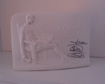 Lladro Collectors Society Plaque With Signatures