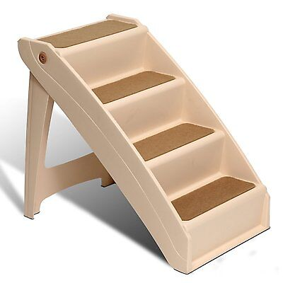 XTRA Large Pet Dog Folding Stairs Tall High Bed Car Ladder Ramp Steps Portable .