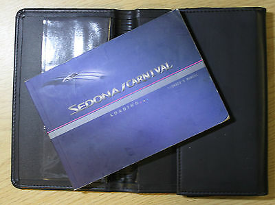 Kia Sedona / Carnival Owners Manual Handbook Wallet 2001-2005 Pack 6815