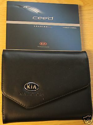 Kia Ceed Owners Manual Handbook Wallet 2012- 2015 Pack !!!