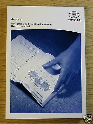 Toyota Avensis Multimedia Navigation System Owners Manual Guide Book 6699