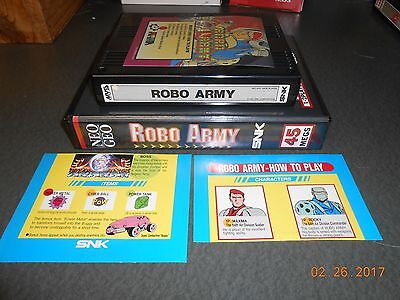 Robo Army (Neo Geo MVS, 1991) Cart, Shock Box and Mini Marquee