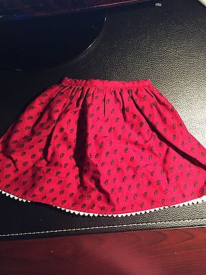 Josefina American Girl Doll Original Burgundy And Black Meet Skirt