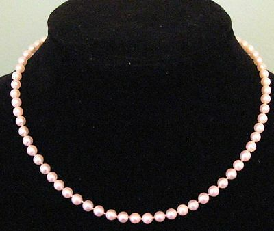 Natural Pearl 14K Gold Clasp Vintage Necklace In Original Box.