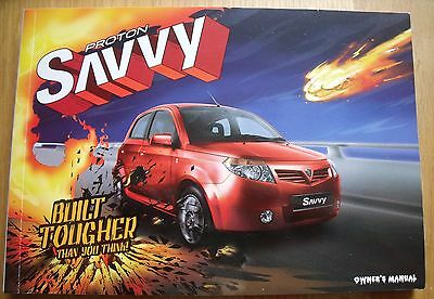 Proton Savvy Owners Manual, Anti-Corrosion,RAC Cover, In-Car Entertainment Guide