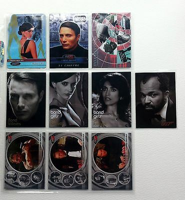 """James Bond Complete - Full set of """"Casino Royale"""" Expansion Chase Cards"""