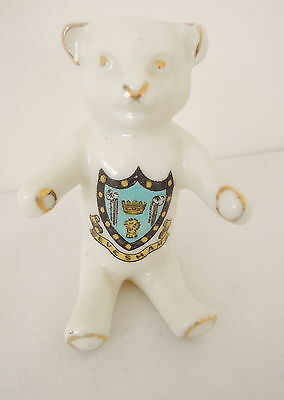 Crested China Teddy Bear Evesham Crest by Willow Art China