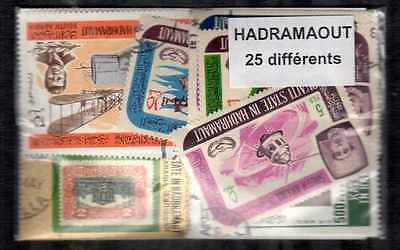 Hadramaout 25 timbres différents
