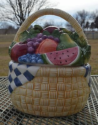 Susan Winget Basket of Fruit Cookie Jar - Certified International