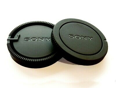 Body & Rear Lens Cap for Sony Alpha Camera & A Mount Lenses SONY logo UK SELLER