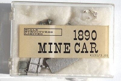 Scale Structures LTD  HO 2 Foot Gauge 1890 Wood Mine Car Kit
