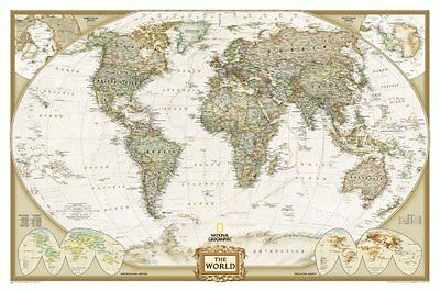 The World: Laminated Executive Line by National Geographic Maps 9780792283256