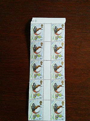 GB stamps 1980 Mint and unmounted block of 10 showing a Dipper