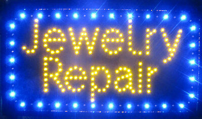 "JEWELRY Sign LED Neon Light 13"" x 24"" Business Advertising TRACERS"