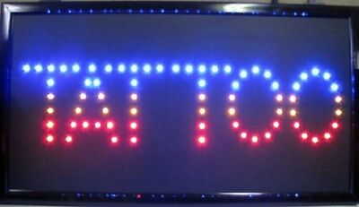 "TATTOO Sign LED Neon Light 13"" x 24"" Business Advertising RAINBOW"