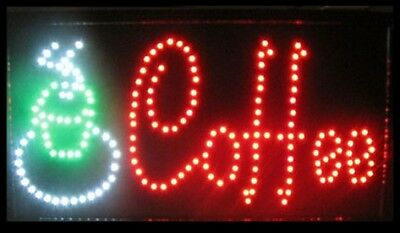 "COFFEE Sign LED Neon Light 13"" x 24"" Business Advertising"