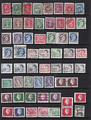 Canada - Interesting Definitive Stamps with perf. varieties SCANS (Ca24022)
