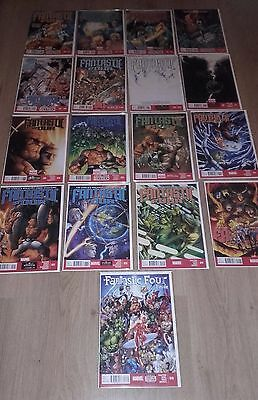 Fantastic Four Full Volume Of 17 Issues All In Protective Covers And Hardbacking