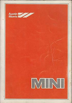 Mini 850 1000 Saloon Clubman 1275Gt (1976-1980) Original Factory Workshop Manual
