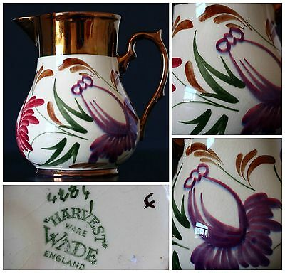 STUNNING Wade Luster ware Jug Harvest Pattern 13cm High IN MINT CONDITION