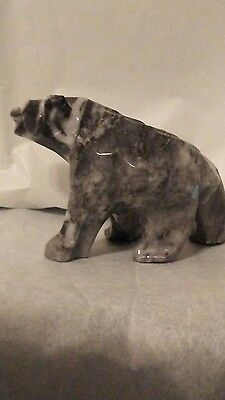 Hand Carved Stone Bear