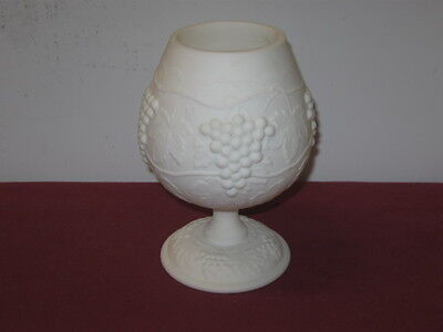 Imperial Glass Co.  --  Grape-Milk Glass-Doeskin  --  Footed Vase