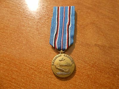 Vintage Original WW2 United States American Campaign Minature Medal Bar Mount