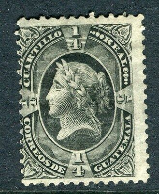 GUATEMALA;   1875 early classic pictorial issue Mint unused 1/4r. value
