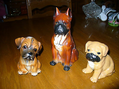 Boxer Dog Lot Of 3