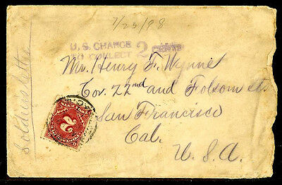 Philippines 1898 U.S. Transport Post Office Fourth Direct Dispatch Soldiers Lett