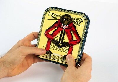 Amazing Monkey Multiplication 1916 Tin Toy Calculator Collectors Item Great Gift