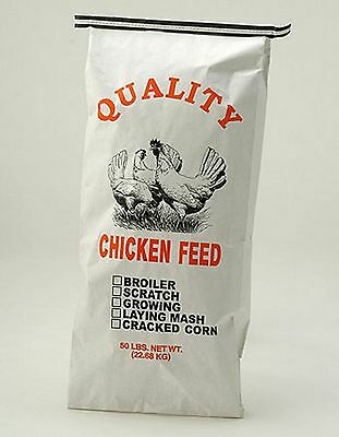 10 Pack  50 LB. Chicken Feed Bags - Sacks - Brand New  - Paper
