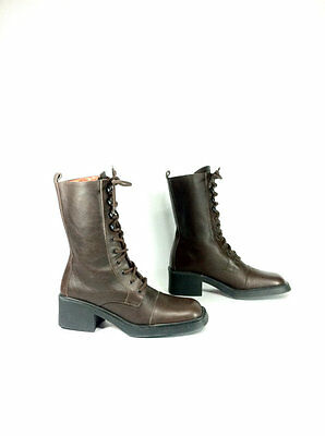 Women's Vintage  VTG Style lace up boots size 7.5.  Italy
