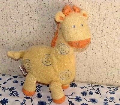 Yellow Spirals Giraffe Plush Rattle - Carter's Child Of Mine - Baby Toy Lovey