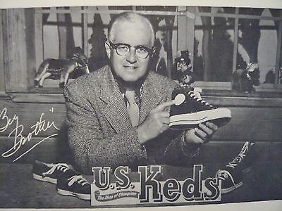 Vintage Keds Sneaker Advertising Big Brother Bob Emery 1950's