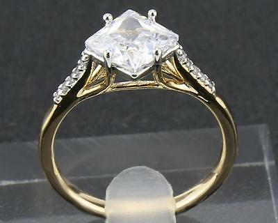 14Kt Solid Yellow Gold  2.25 Carat Natural Diamond  Rings Size10